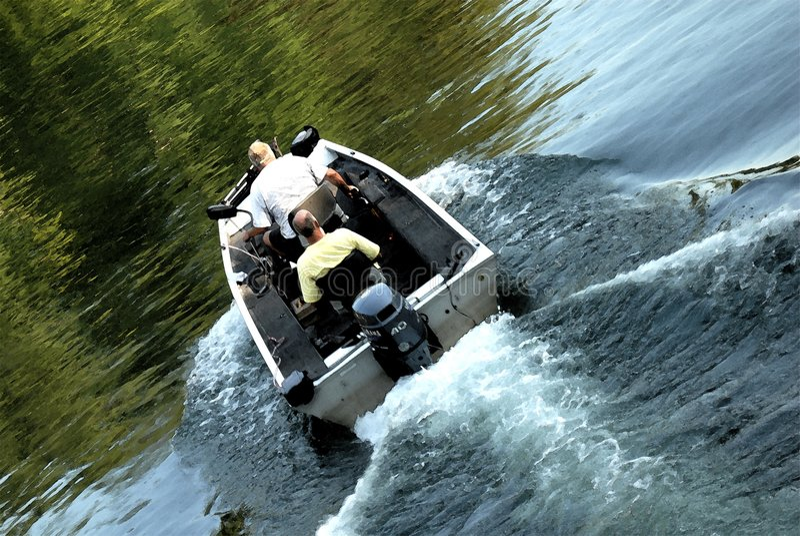Two Guys Fishing royalty free stock photo