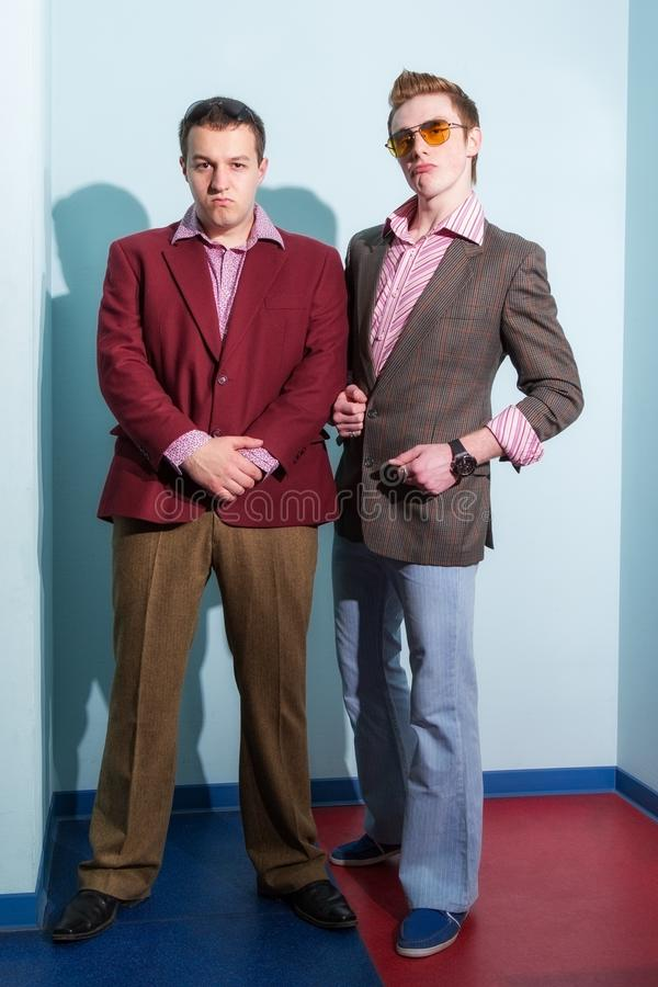 Two guys stock photo