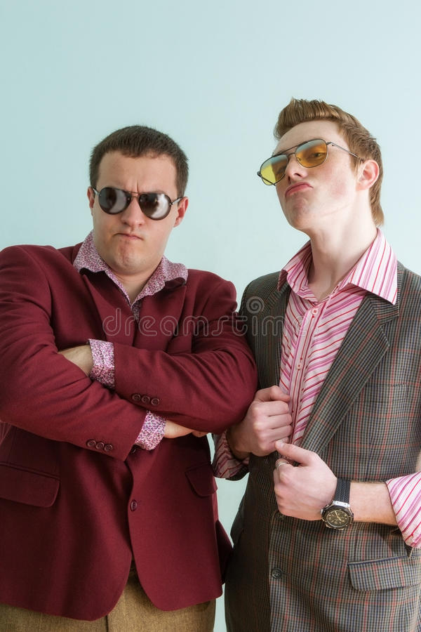 Two guys stock photo