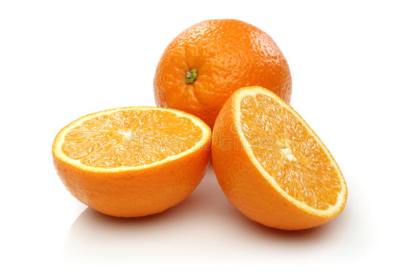 Two Half Orange and Orange stock image