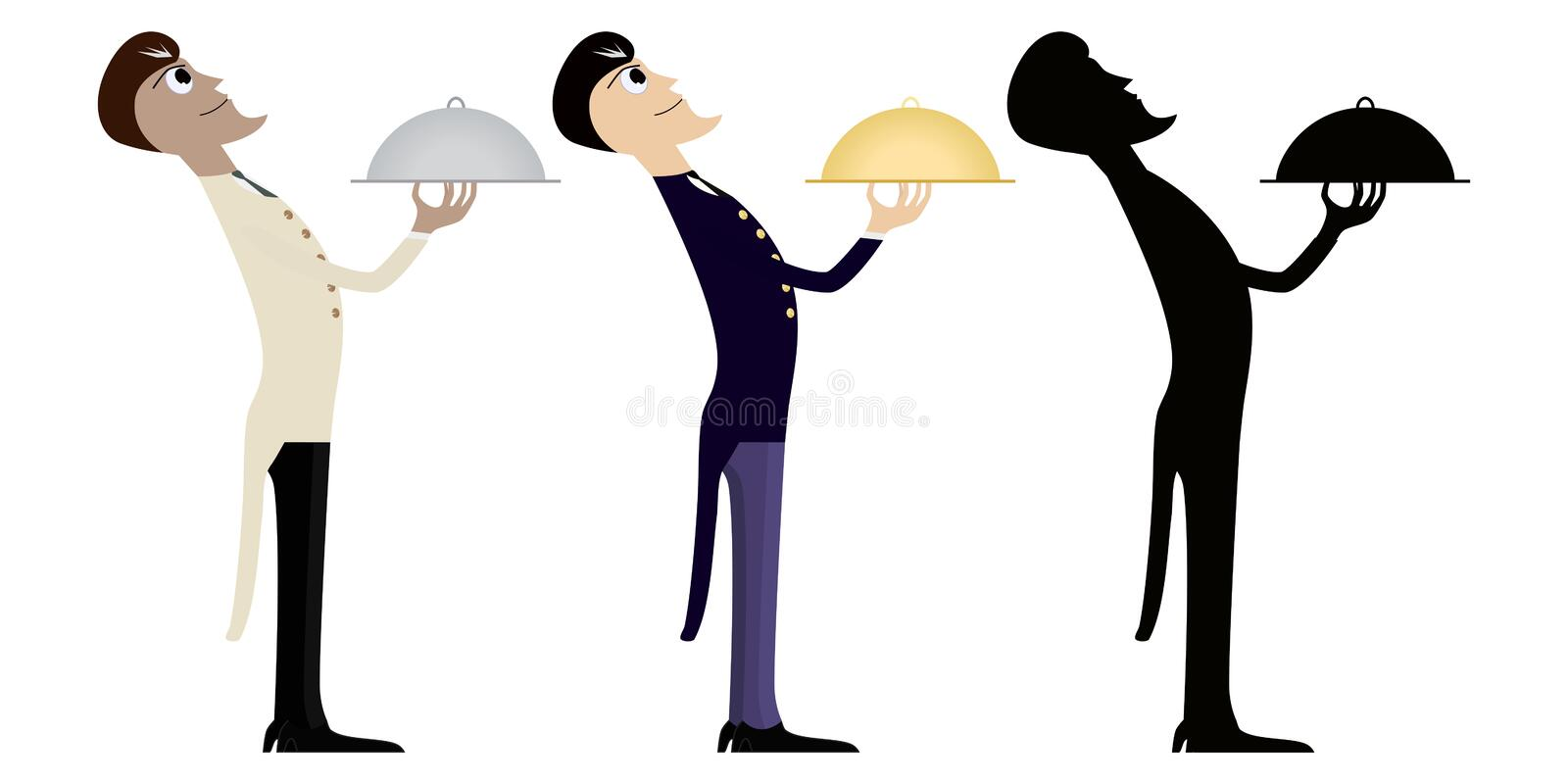 Download Two With Half Of The Waiter Stock Vector - Image: 14305542