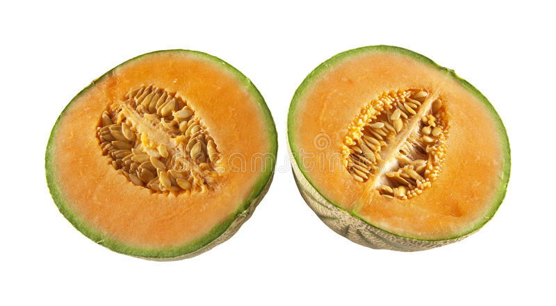 Download Two halves of melons stock image. Image of nature, isolated - 17461617