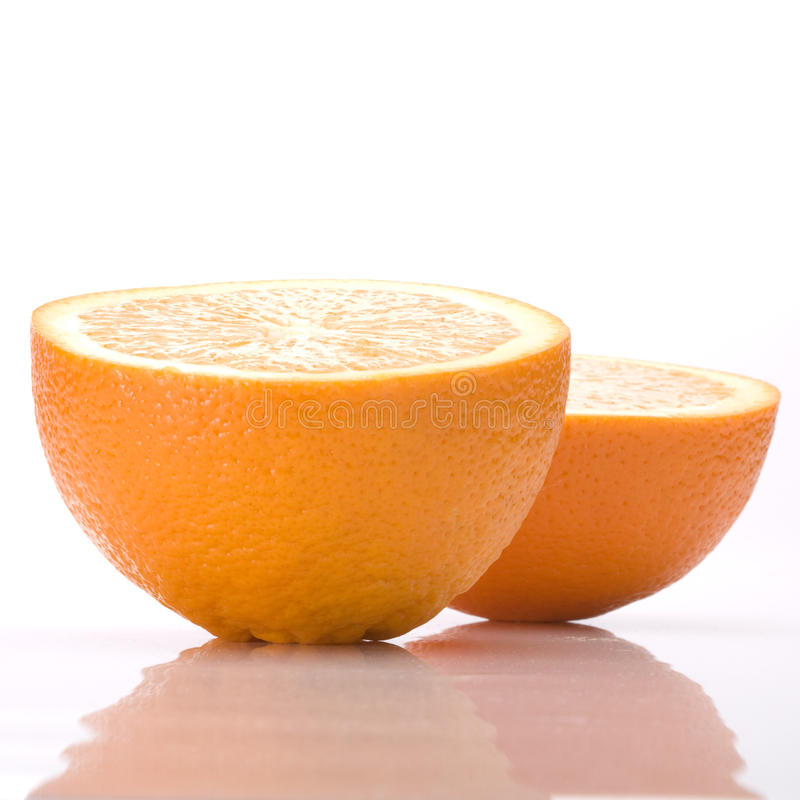 Download Two halves of an orange stock photo. Image of nature - 13331946