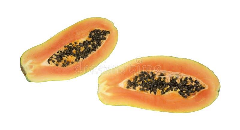 Download Two Halves Of Red Maradol Papaya Stock Image - Image: 26539957