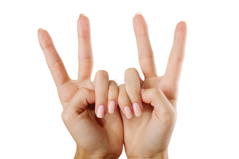 Two Hand Royalty Free Stock Photo