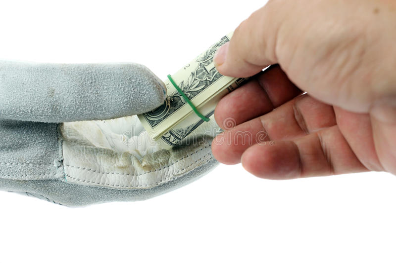 Download Two Hand Worker And Businessmen.Paying Money, Horizontal Shot. Stock Photo - Image: 31105418
