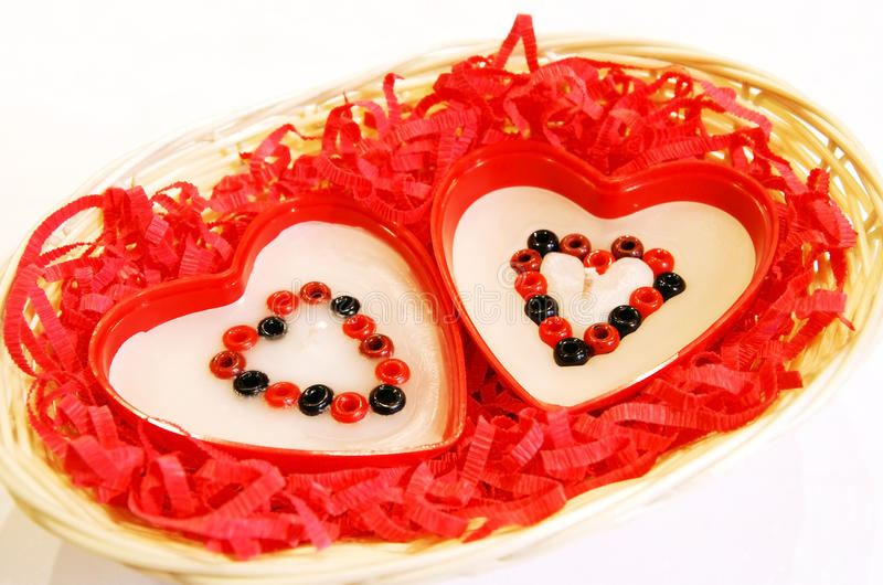 Download Two Handmade Heart-like Candles Stock Image - Image: 11479079