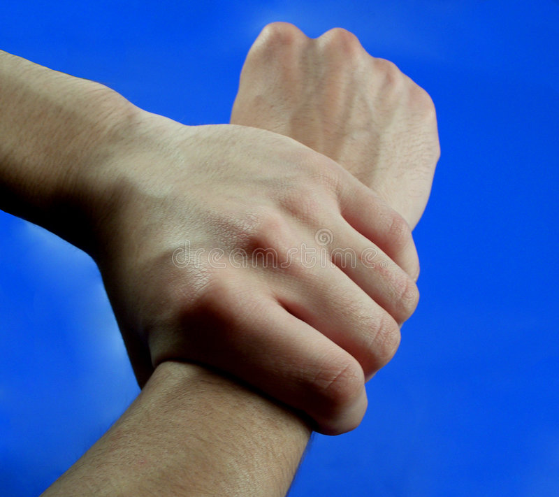 Two hands...(1) stock photography