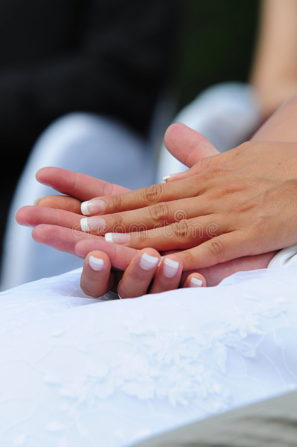 Two hands stock image