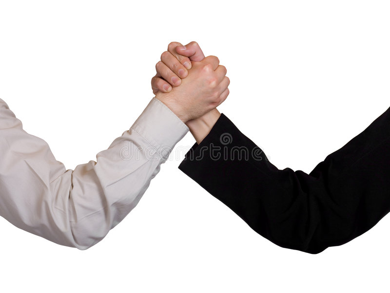 Two hands, arm wrestling royalty free stock photography