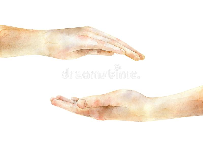Two hands on each other royalty free stock image