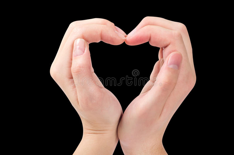 Download Two Hands Form A Heart Shape Stock Photo - Image: 25346696