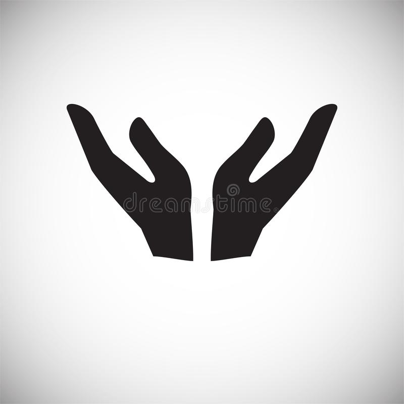 Two hands gesture icon on white background for graphic and web design, Modern simple vector sign. Internet concept. Trendy symbol. For website design web button stock illustration