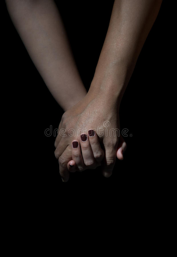 Two hands of love people holding royalty free stock images