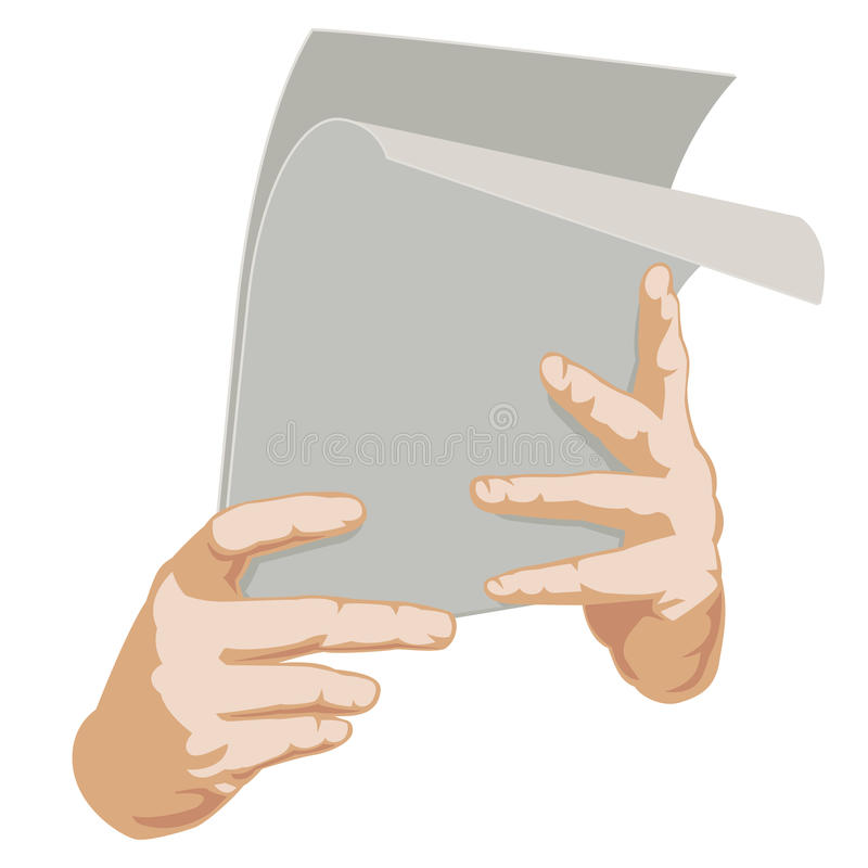 Two Hands With Paper Royalty Free Stock Photography