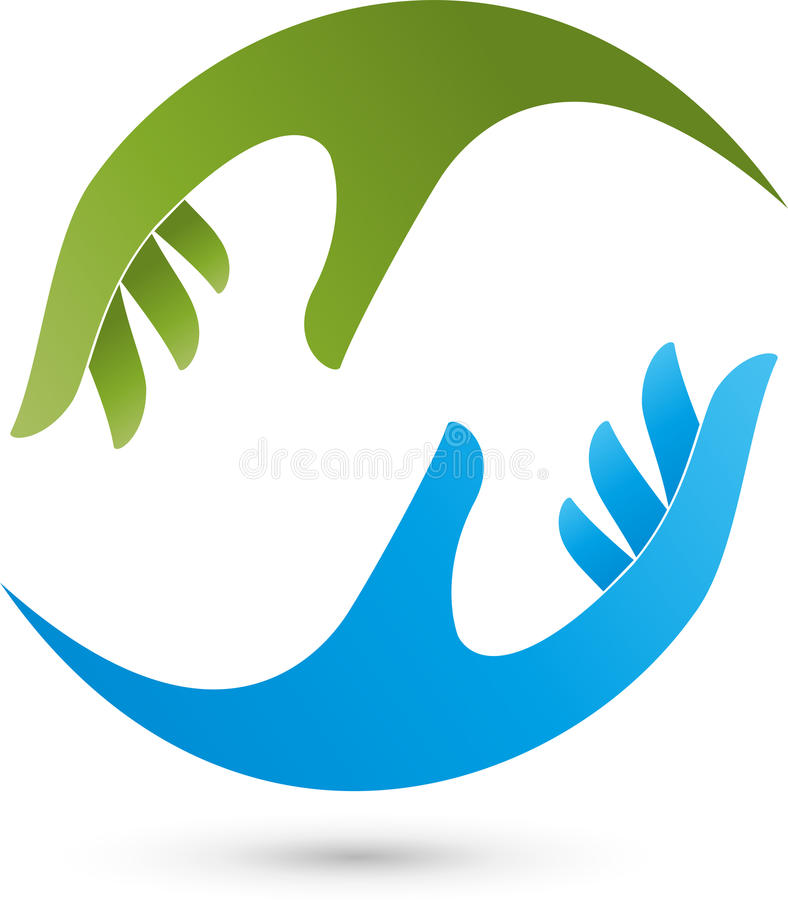 Two Hands Physiotherapy And Massage Logo Stock Vector