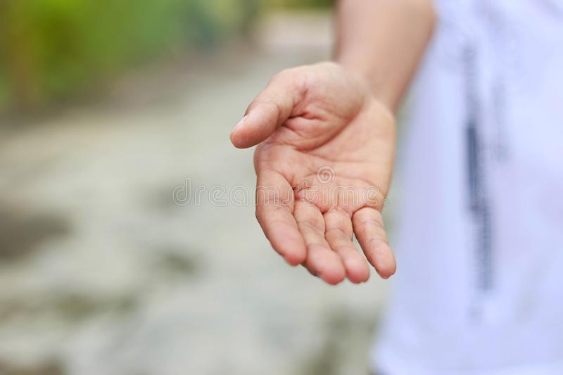 Give a helping hand stock photography