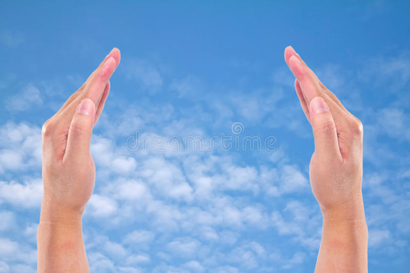 Download Two hands raised up stock image. Image of horizontal - 31940971