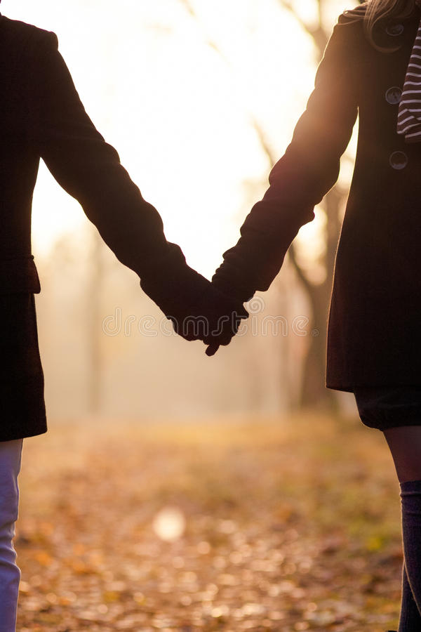 Two Hands Together Stock Photography