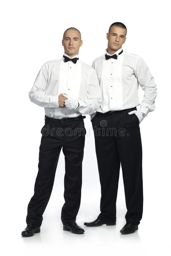 Two handsome men royalty free stock image