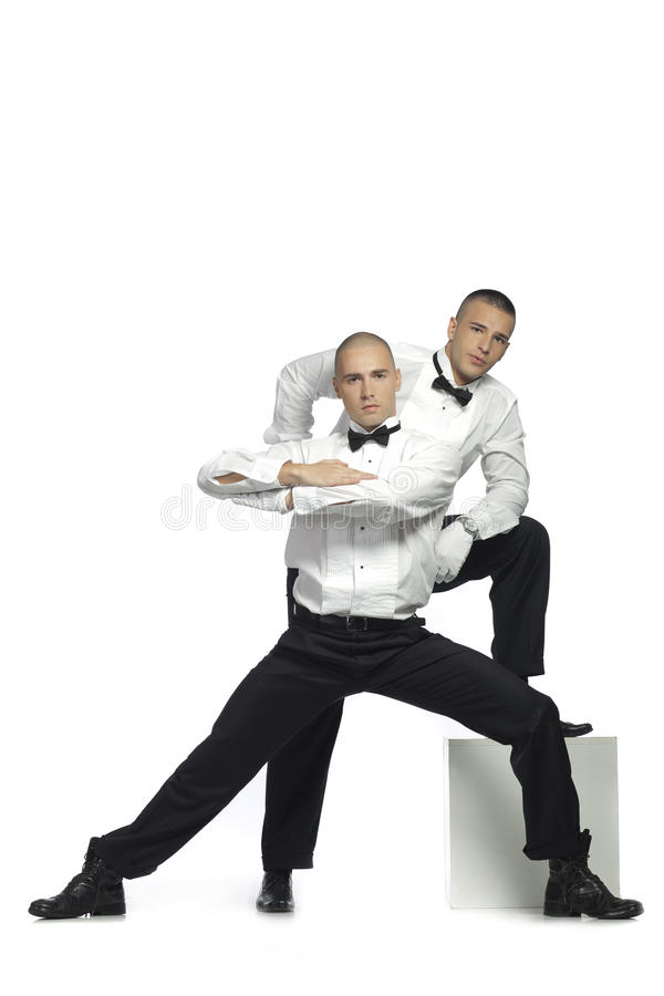 Two handsome men royalty free stock images