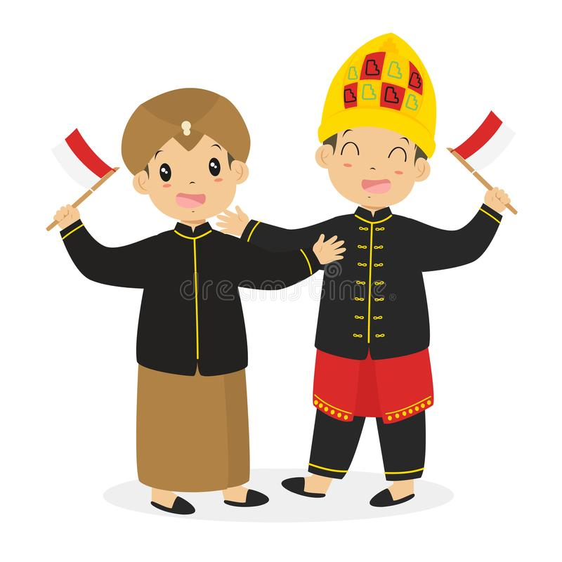 Download Javanese And Aceh Kids Holding Indonesian
