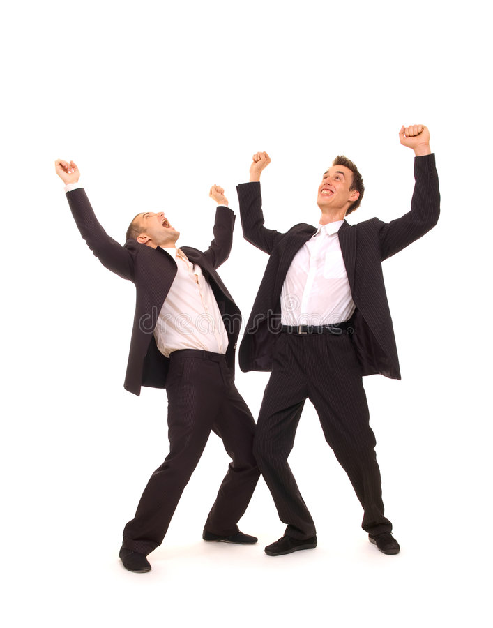 Download Two happy businessmen stock image. Image of businesspeople - 5572003