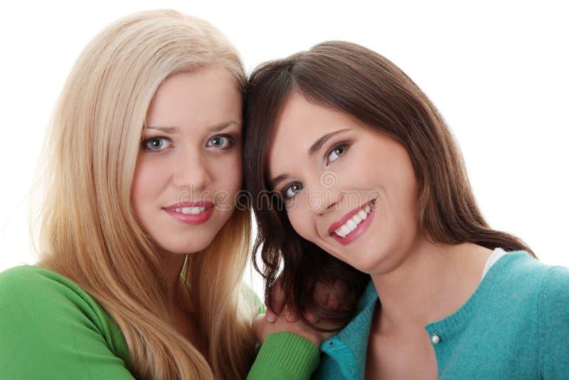 Download Two happy girls stock image. Image of model, joyful, caucasian - 16211857