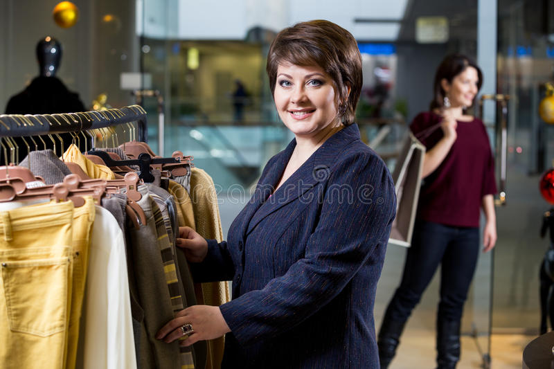 Download Two Happy Women Shopping In Clothes Store Stock Photo - Image: 36204732