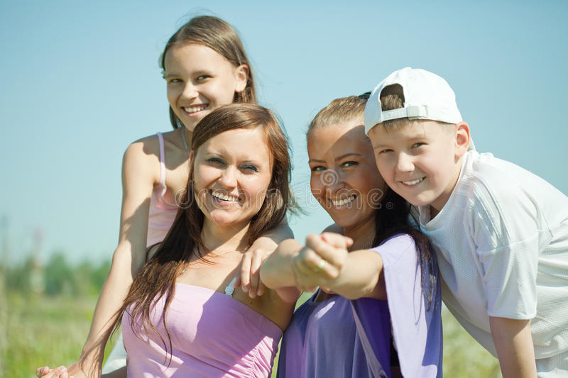 Download Two Happy  Women With Teens Royalty Free Stock Image - Image: 20574116