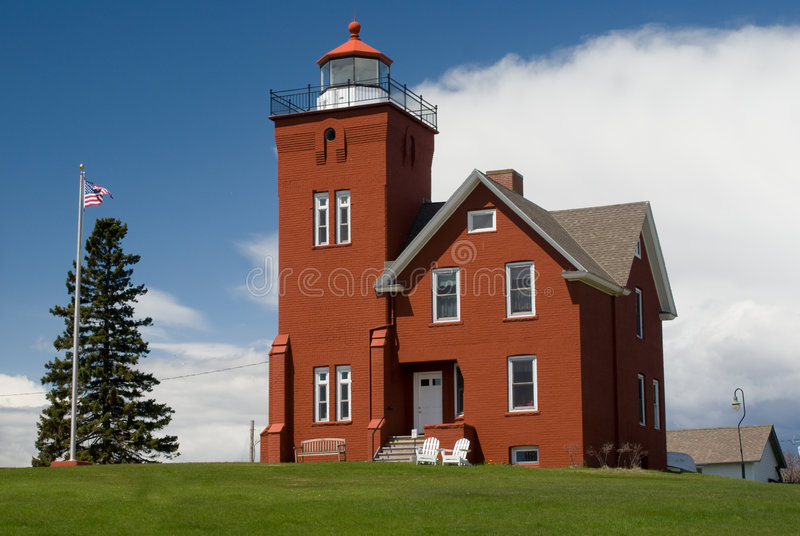 Two Harbors Lighthouse stock image