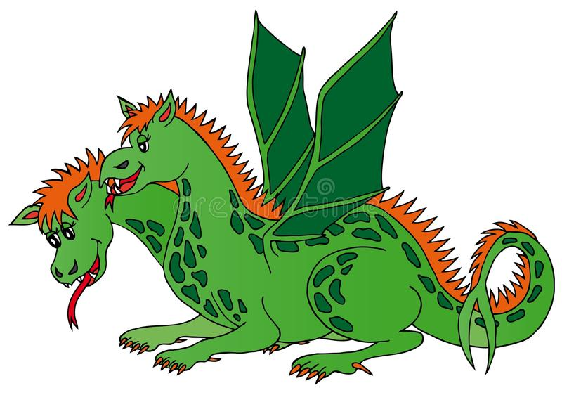 Download Two headed dragon stock vector. Image of tail, vectors - 24831103