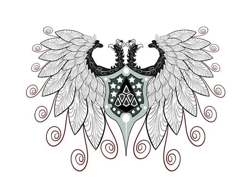elegant Two-headed eagle isolated