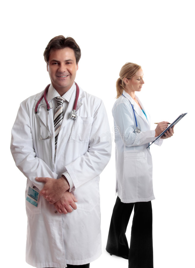 Two healthcare professionals stock photography
