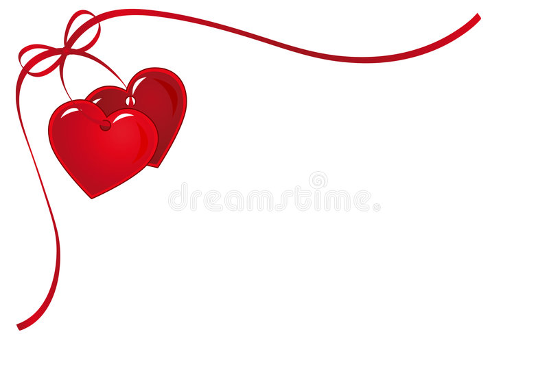 Download Two heart stock vector. Image of valentine, card, abstract - 4071720