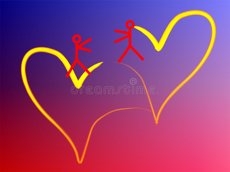 Two heart stock photo
