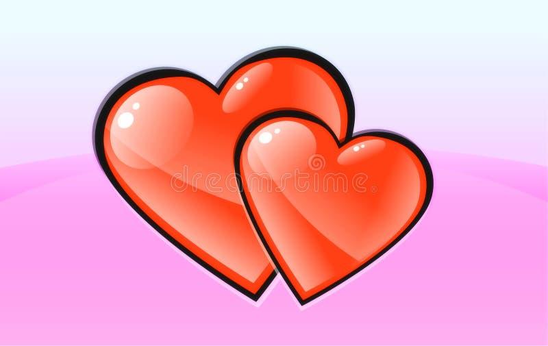 Download Two heart. stock illustration. Illustration of bosom, highlight - 470894