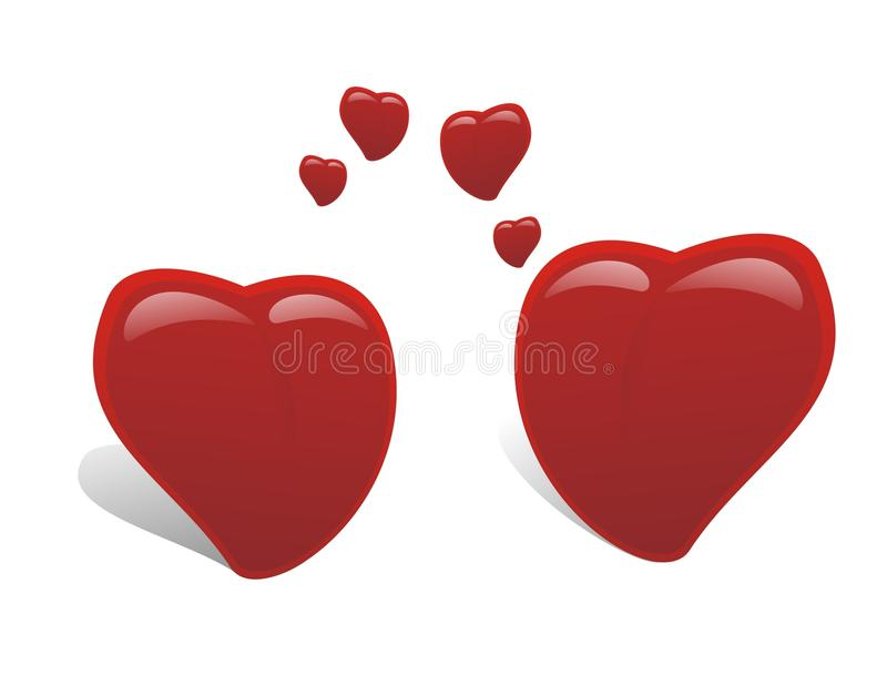 Download Two heart falling in love stock vector. Image of vector - 22616292