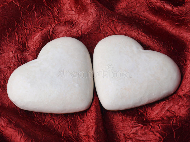 Download Two Heart-shaped Gingerbread Cakes Stock Photo - Image of love, scarlet: 13030826