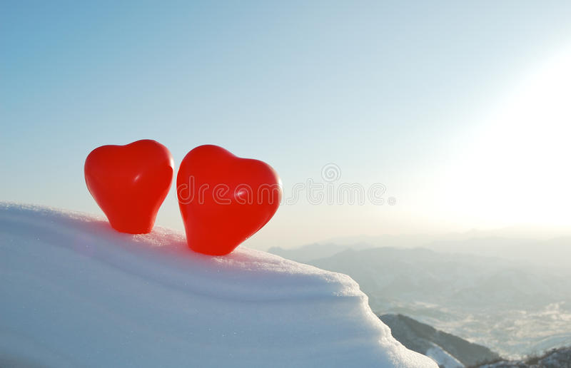 Download Two hearts stock photo. Image of little, fourteenth, ball - 12429078