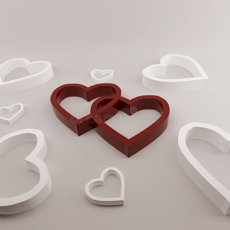 Free Two Hearts Stock Images - 12933814