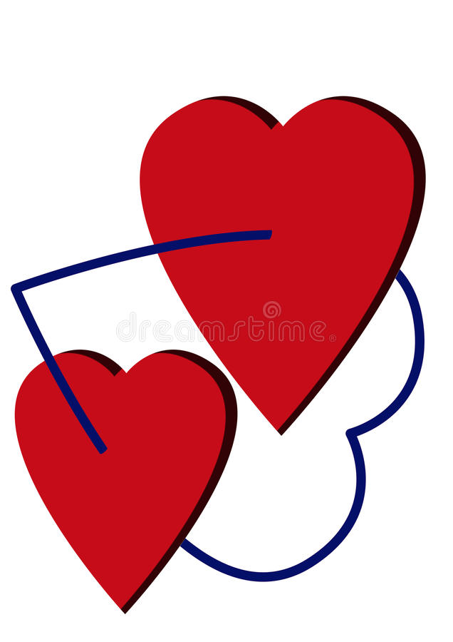 Download Two hearts stock illustration. Illustration of valentine - 13533080