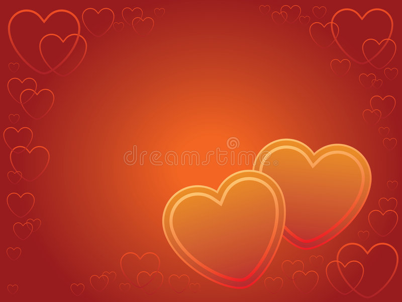 Download Two hearts stock vector. Image of design, heart, decoration - 2251713