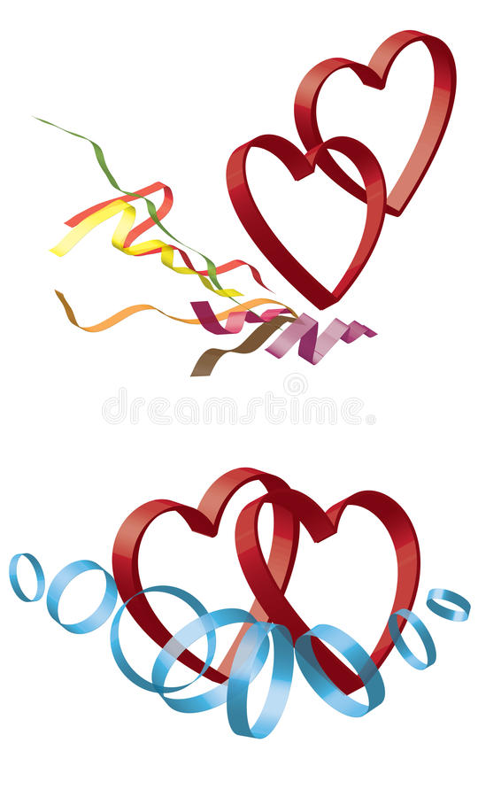 Free Two Hearts Royalty Free Stock Image - 22844736
