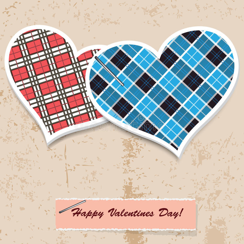 Two hearts stock illustration
