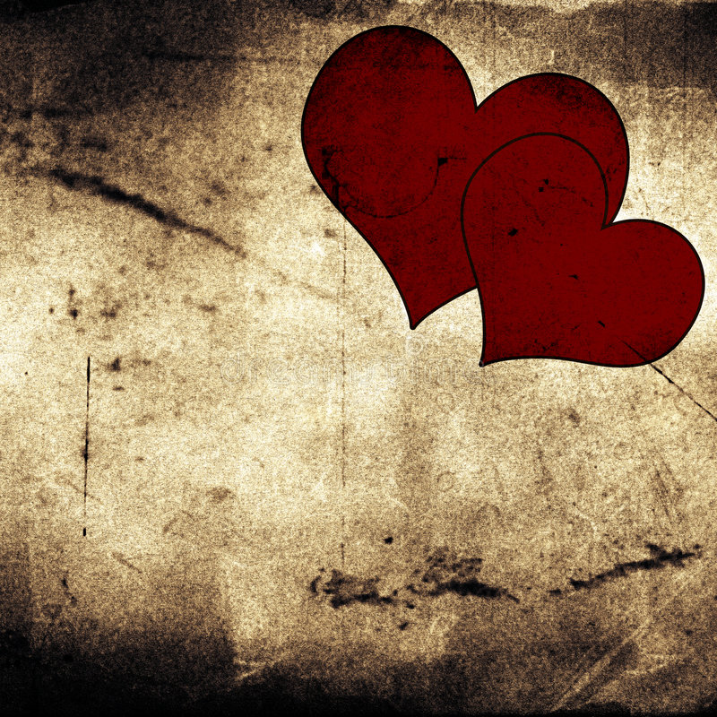 Download Two hearts stock illustration. Image of canvas, dark, background - 3989769