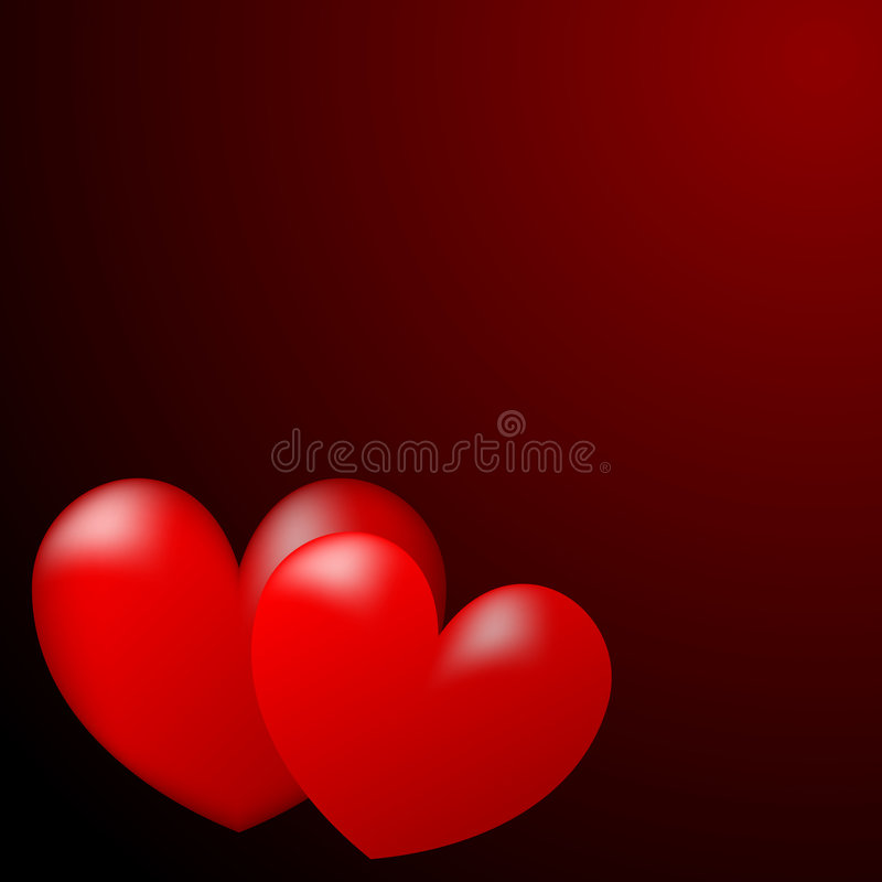 Hearts. Illustration Two Red Hearts vector illustration