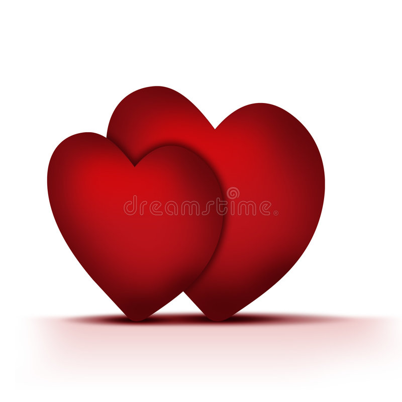 Download Two hearts stock illustration. Image of abstract, individual - 7470498