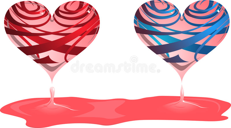 Download Two hearts stock vector. Image of creative, background - 7506220