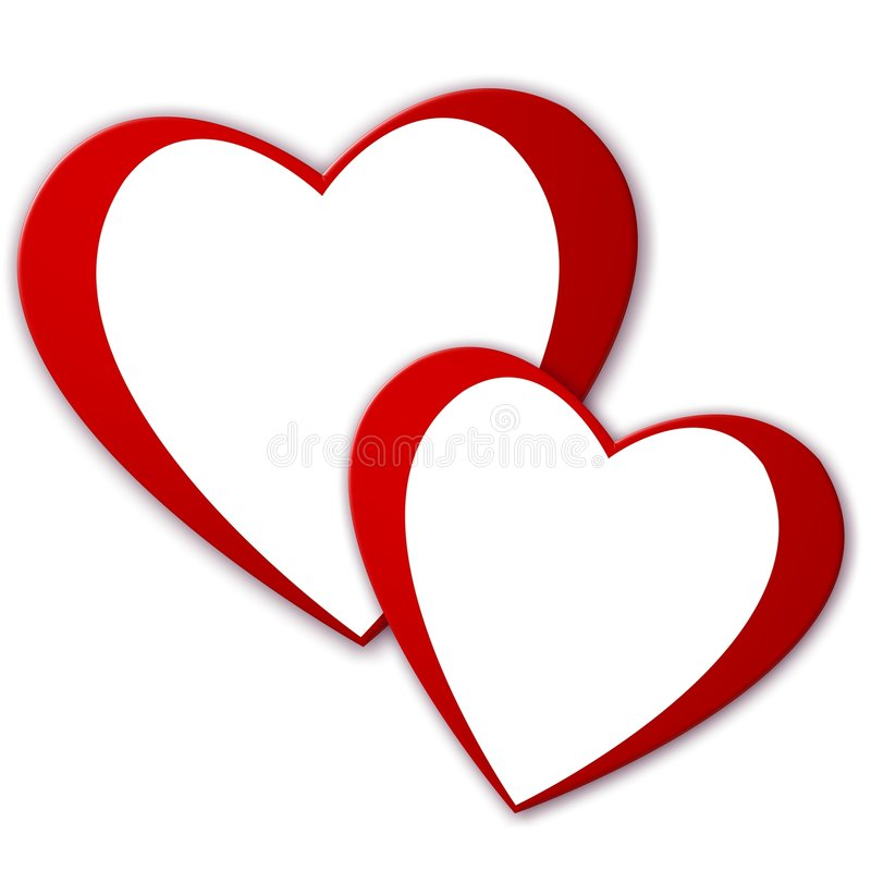 Free Two Hearts Royalty Free Stock Photography - 7748957